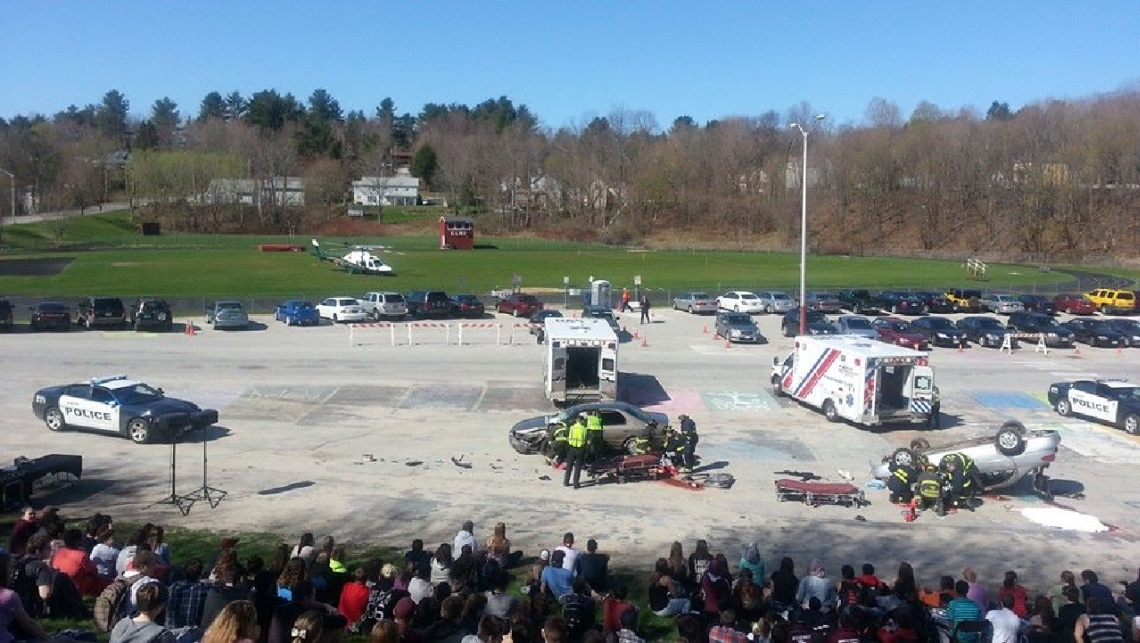 Mock Fatal Car Crash